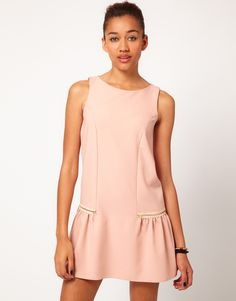 Drop Waist Dress with Zips - Lyst