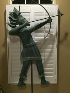 Large wood and cooper weathervane folk art  Contact: bhbeck1114@aol.com