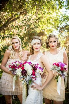 roaring twenties bridal ideas #roaring20wedding #20shairstyles #weddingchicks http://www.weddingchicks.com/2014/01/02/easy-roaring-20s-wedding-ideas/