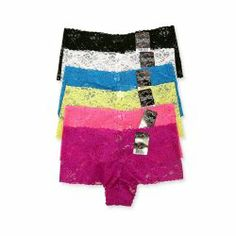 panties 6 pack lace. Womens Floral Lace Boyshorts 6 Pack. The panties have a great feel and held up nicely upon first washing. They are a bit more see through than the pictures lead on but that's kinda the point. #panties