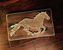 Diy how to make a string art horse stall sign do it yourself horse string art google search solutioingenieria Choice Image