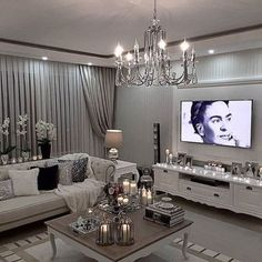 Gorgeous 50 Modern Glam Living Room Decorating Ideas https://homadein.com/2017/06/24/50-modern-glam-living-room-decorating-ideas/