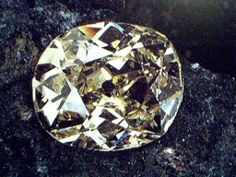 The Eureka diamond was the first ever discovered in South Africa. It  weighed in at 231 carats before being faceted & eventually traveled to England for the inspection of Queen Victoria at Windsor Castle. It was destined to change owners many time, before being purchased by the diamond conglomerate, De Beers, in 1967; it is now on permanent display at the Kimberly Museum in South Africa, where it remains a symbol of one of South Africa's most lucrative national resources.
