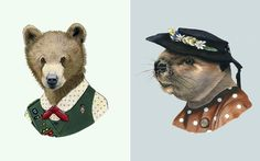 artist Ryan Berkley is able to give each of his animal illustrations such fantastic personalities.