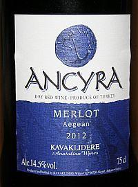 Kavaklidere Ancyra Merlot 2012, Aegean, Turkije