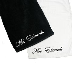 e826d58dff5070 Personalized Beach Towels for Bride and Groom