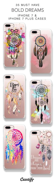 35 Must Have Bold Dreams Protective iPhone 7 Cases and iPhone 7 Plus Cases. More Dreamcatcher iPhone case here > https://www.casetify.com/collections/top_100_designs#/?vc=RPnPXZETV2