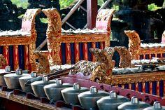 Gamelan in besakhi - temple bali indonesia