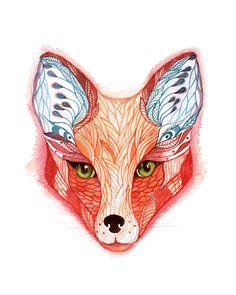 red fox by Ola Liola