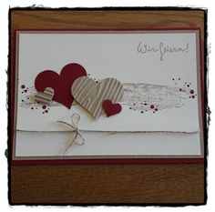 Kreatives aus Papier - Kreatives aus Papier Stampin Up Einladung Hölzerne Hochzeit La meilleure image selon vos envies sur - Love Scrapbook, Wedding Scrapbook, Scrapbook Designs, Scrapbook Paper, Engagement Cards, Engagement Ring Cuts, Stampin Up, Wedding Paper, Wedding Cards