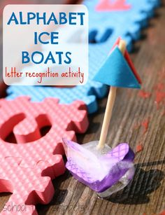 School Time Snippets: Alphabet Ice Boats for Preschoolers-Letter Recognition Activity. Pinned by SOS Inc. Resources. Follow all our boards at pinterest.com/sostherapy/ for therapy resources.