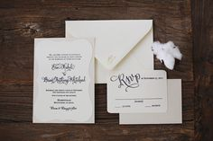 Southern wedding - black and white invitation