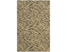 Cosmopolitan Beige and Black Area Rug