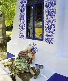 Pinturas de Agnes Kasparkova, uma senhora tcheca de 87 anos. Arte pela arte...
