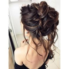 Beautiful Wedding hair bun ❤ liked on Polyvore featuring beauty products, haircare, hair styling tools, hair and updo