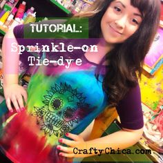 Sprinkled Tie Dye Technique! (video)