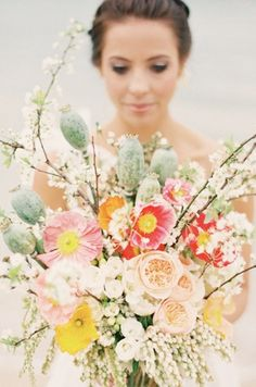 Wild Flower Bouquet, this is what I'm hoping to pull off for a center piece from my own flower beds!