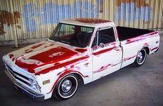 C10 Trucks, Mini Trucks, Chevrolet Trucks, Chevy Stepside, Chevy Pickups, 67 72 Chevy Truck, Patina Paint, Dropped Trucks, Classic Pickup Trucks