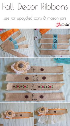 Upcycled Cans for Fall Decor DIY Tutorial