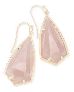http://rubies.work/0924-emerald-pendant/ Carla Drop Earrings in Rose Quartz - Kendra Scott Jewelry.