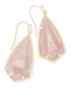 Carla Drop Earrings in Rose Quartz - Kendra Scott Jewelry.