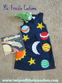 DIY Ms. Frizzle Magic School Bus costume