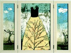 Copperfield | Taidegraafikko Kirsi Neuvonen Dress Robes, Water Lilies, Finland, Clouds, Graphics, Artists, Projects, Inspiration, Dresses
