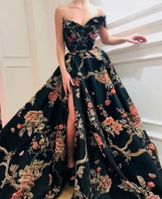 Prom Dresses Ball Gown, Gorgeous Sexy 2019 New Fashion Print Long Prom Dress,Off The Shoulder Evening Dress,Sexy High Slit Prom Gown SantaFe Bridal Pretty Dresses, Sexy Dresses, Evening Dresses, Elegant Dresses, Fashion Dresses, Summer Dresses, Women's Fashion, Casual Dresses, Office Dresses