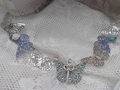 Re-purposed Steam punk Butterfly Key and Rose Adjustable Necklace | RosesHeirlooms - Jewelry on ArtFire