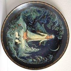 Collectible Russian Porcelain Plate The Snow Queen by cherryshop