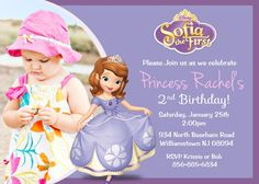 Sofia the First Birthday Invitations Luxury Items Similar to sofia the First Birthday Party Invitation Digital File On Etsy