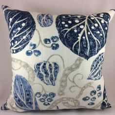 "William Yeoward ""ASTASIA"" in navy-Ikat block print floral pillow cover by AccentMarks on Etsy https://www.etsy.com/listing/521374627/william-yeoward-astasia-in-navy-ikat"