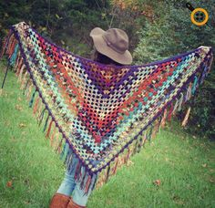 crochet shawl patterns free crochet pattern for the scrappy granny shawl from morale fiber Crochet Shawls And Wraps, Crochet Scarves, Crochet Clothes, Crochet Vests, Crochet Shirt, Knitted Shawls, Shawl Patterns, Knitting Patterns, Crochet Patterns