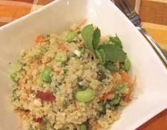 Quinoa Salad with Edamame and Peas Edamame, Quinoa Salad, Fried Rice, Fries, Salads, Ethnic Recipes, Health, Food, Salud