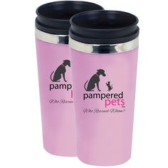 Pampered Pets Acrylic and Stainless Steel Tumbler with Logo and Who Rescued Whom?, Pink, - You can learn more by visiting the image link. (This is an affiliate link and I receive a commission for the sales) Memorial Stones, Cat Memorial, Pet Supplies, Tumbler, Packing, Kitty, Stainless Steel, Pets, Image Link