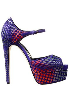 Brian Atwood - Accessories - 2014 Fall-Winter reminds me of Spider-Man Brian Atwood, Crazy Shoes, Me Too Shoes, Purple Shoes, Hot Heels, Fashion Heels, Beautiful Shoes, Stiletto Heels, Stilettos