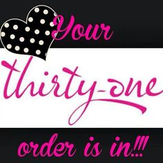 Your order is in !!!