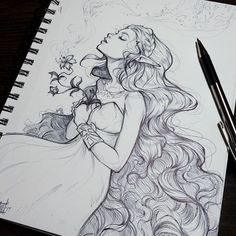 """Swipe for detail➡️ I wasn't joking when I said I'm currently Zelda obsessed! Had to doodle her in ball point pen as my woman crush for #wcw aaaand a fun feminine essence for #internationalwomensday  I wanted to draw different races of ladies today...but I'd rather do a much bigger project on that later. Like how my """"Goddesses"""" book explored difference cultures of divine women.  I'm always so proud to be a part of all the insanely talented female illustrators tackling this relatively new..."""