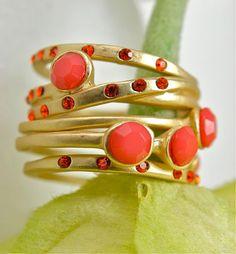pretty coral rings