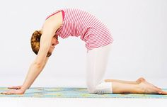 Yoga is a natural way to help alleviate back pain. Here are 12 yoga poses that can help you if you suffer from back pain. Yoga Poses For Back, Yoga For Back Pain, Cool Yoga Poses, Cat Cow Yoga Pose, Cow Pose, Yoga Cat, Low Back Stretches, Back Exercises, Yoga Exercises