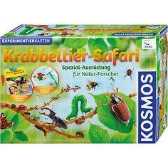 Experimentierkasten Krabbeltier-Safari von Kosmos<br /> <br /> Für Kinder, die sich für alles interessieren, was in der Natur kreucht und fleucht, gibt es den Experimentierkasten Krabbeltier-Safari.<br /> <br /> Damit können die Kleinen in der Forscher-Station eine Lichtfalle aufbauen und kleine Krabbeltiere aus Erdmaterial extrahieren, mit dem Kescher Insekten fangen oder mit Löschpapier und Petrischale die Vorlieben von Kellerasseln erforschen.&lt...