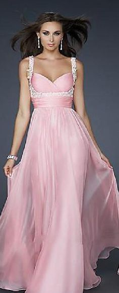 Fashion Long Chiffon A-Line Natural Sweetheart Prom Dresses klkdresses16542xre #longdress #promdress
