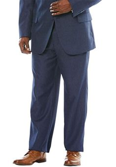 Men's Big and Tall Easy Movement Plain Front Expandable Suit Separate *** Details can be found by clicking on the image. (This is an affiliate link) Mens Big And Tall, Big & Tall, Suit Separates, Dress Pants, Elastic Waist, Link, Easy, Image, Dresses