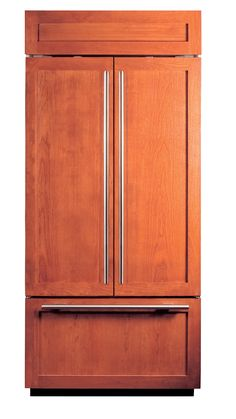 Sub Zero Fridge With Cherry Panels For The Furniture Appeal ...no Stainless  Steel