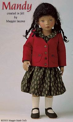 Mandy 16.5 Inch Tall Felt Doll Edition Size: 70 Created in 1999