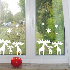 Elche Wandtattoos Weihnachten Fensteraufkleber von mama und ich auf DaWanda.com