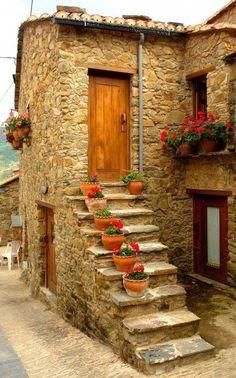 Typical house in Miranda do Corvo, Portugal