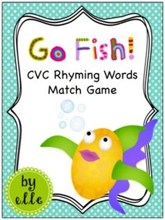 Rhyming Words Game - Go Fish! Rhyming Word Game, Cvc Words, Word Games, Reading Tutoring, Reading Intervention, Rhyming Activities, Language Activities, Literacy Stations, Literacy Centers