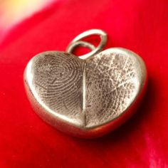Couples Fingerprint Heart Jewelry Pendant by That's My Impression | Hatch.co