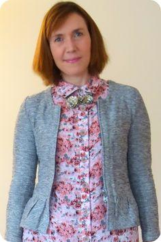 Fabric Mart Fabricistas: Made by a Fabricista: Romantic Rayon Challis Rose Dress.